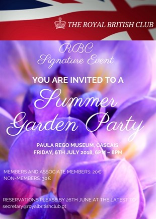6 July 2018 Garden Party Invitation